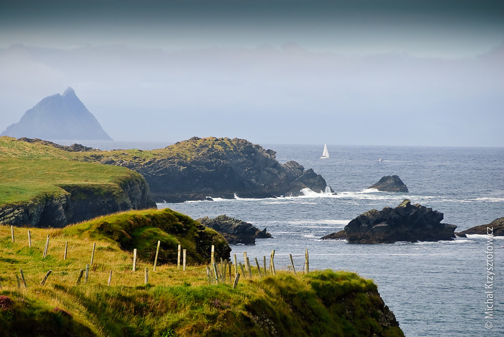 View towards the Skelligs