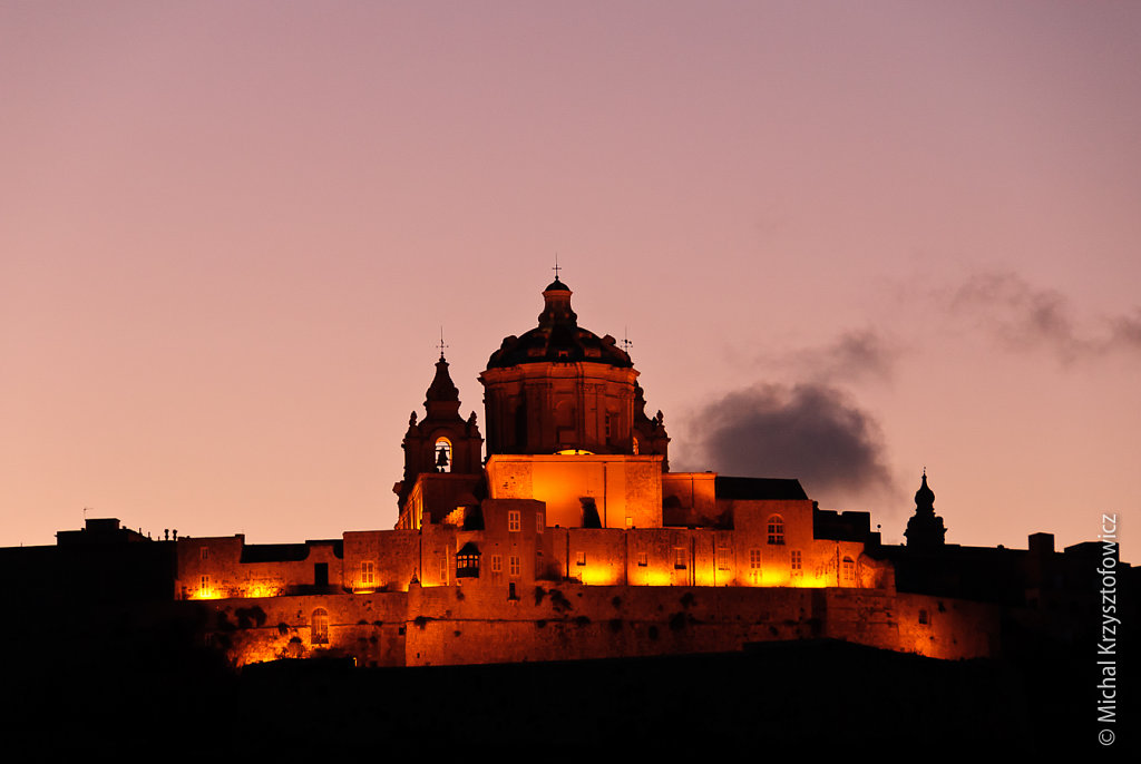 Mdina at night