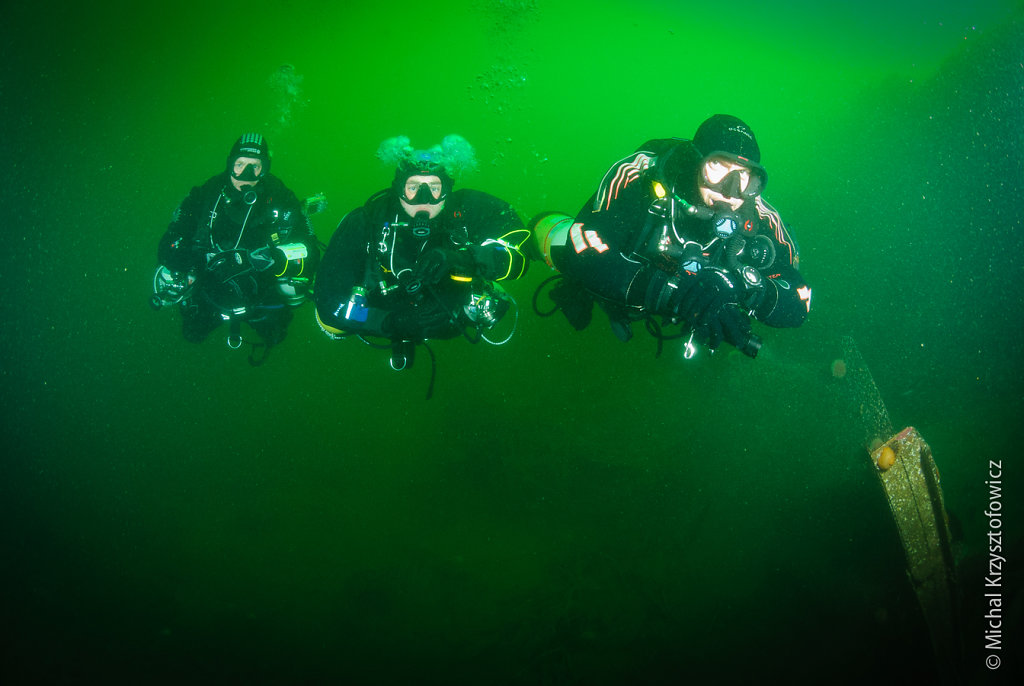 Sidemount Divers on Karlsruhe - Scapa Flow