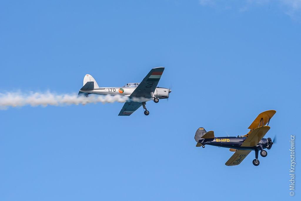Irish Historic Flight Foundation DHC-1 Chipmunk and Boeing Stearman 75