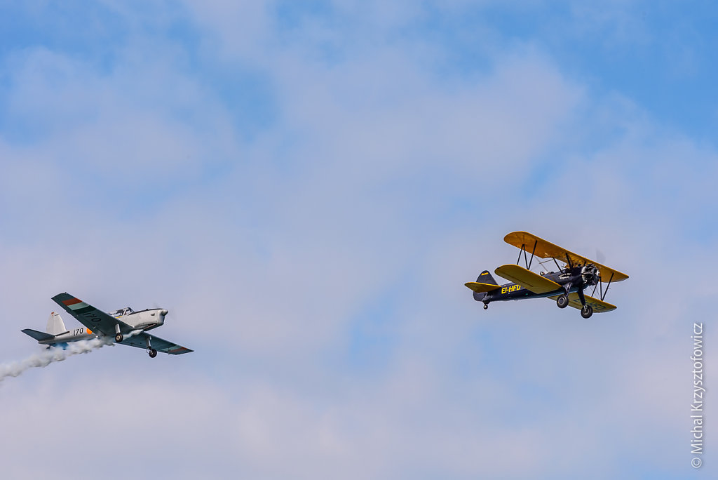 Irish Historic Flight Foundation DHC-1 Chipmunk and Boeing Stearman 75