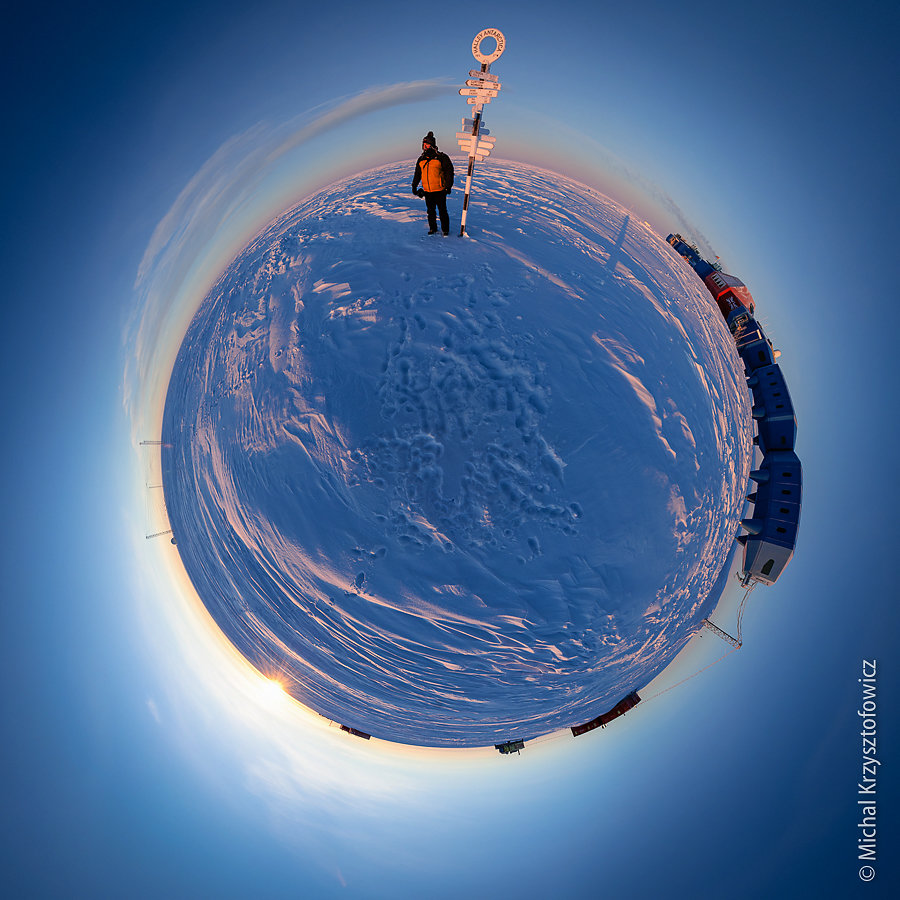 On the bottom of the world