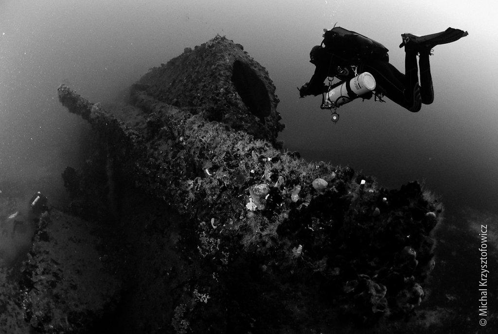 HMS Stubborn - stern