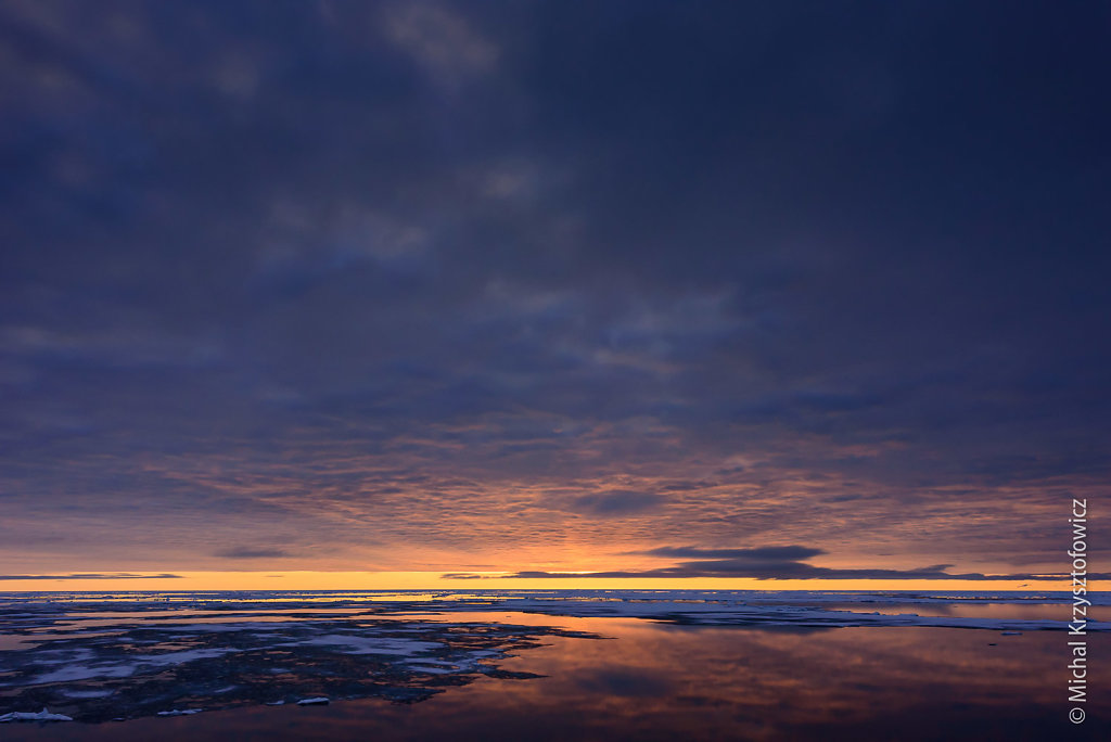 Sunset in Antarctic waters