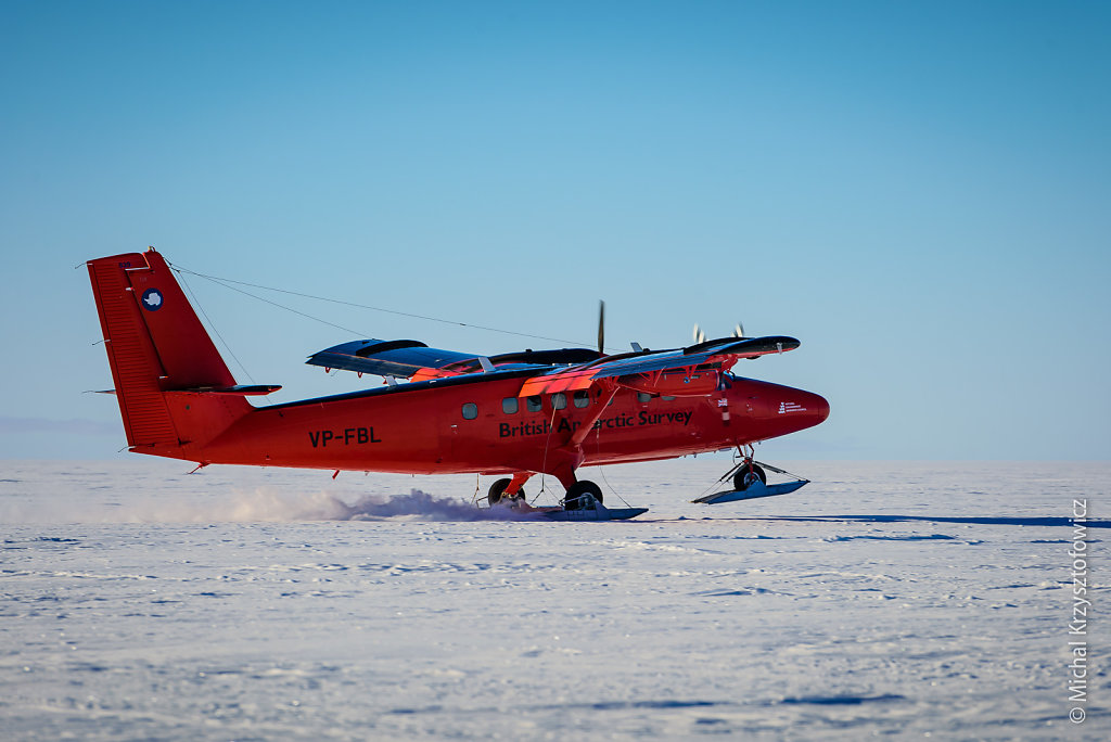 First BAS plane at Halley