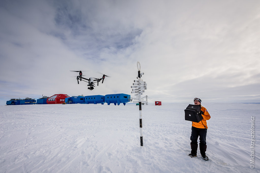Filming Halley with the Drone